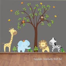 wall decals for baby boy room space saving bedroom ideas nursery wall decals safari wall decals jungle wall decals baby room wall decor tree decal blue