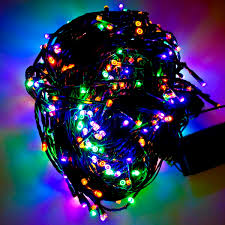 led net lights multi color 12m length of 120 multi coloured multi action outdoor premier