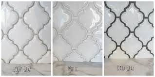 arabesque white tile with grey grout google search kitchen