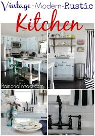 diy painted rustic kitchen cabinets vintage modern rustic kitchen