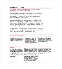 sample business plan template word blank business plan template