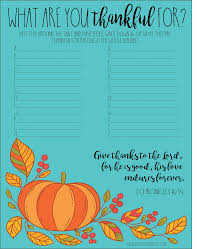 what are you thankful for free thanksgiving printable