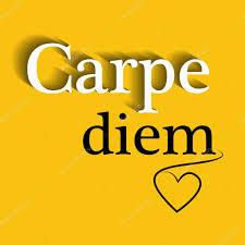 carpe diem motivational quote stock vector kamcauhrova 61791683