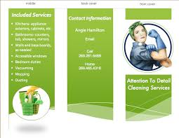 cleaning brochure templates free tri fold brochure i made myself for my business housecleaning