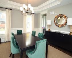 recommended paint colors for dining room with round wall mirror