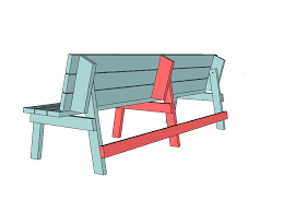 Free Wood Park Bench Plans by Ana White Picnic Table That Converts To Benches Diy Projects