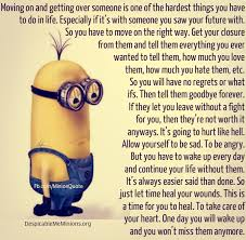 moving on and getting over minion quotes