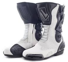 ladies motorbike boots seb095 venus sport boot white boots collection