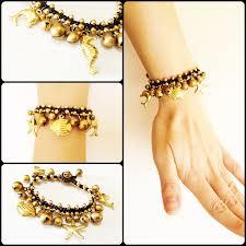 charms bracelet online images Brass charms bracelet sea life handmade beach inspired adjustable jpg