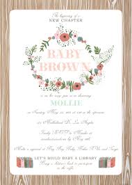 woodland floral build baby a library baby shower hello brielle