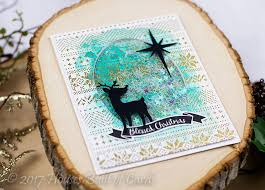 houses built of cards blessed deer watercolor shaker