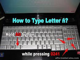 how to type letter enye ñ in laptop keyboard computers