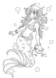 mermaid line art by munmunchan deviantart com color me