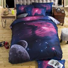 home textile 3d galaxy bedding set universe outer space bedspread