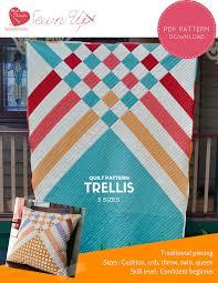 quilt pattern trellis u2013 beginner modern quilt sewn up