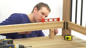 How To Build A Banister How To Install A Rail Simple Traditional Deck Railing Kit Youtube