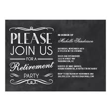 chalkboard retirement party invitation card