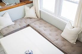 window seat ikea amazon com tufted wool filled bench cushion fits ikea kallax
