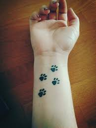 cute paws wrist tattoo cool tattoos online