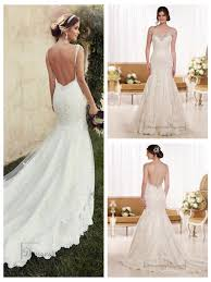 beading straps sweetheart fit and flare lace wedding dresses with