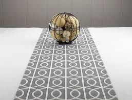 modern grey table runner grey tablecloth grey by bedazzledesign