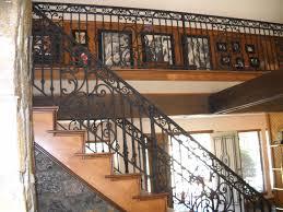Decorative Wrought Iron Railings Decor Interior Wrought Iron Railing Design Ideas With Wooden