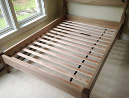 wooden slat bed frame black size queen bed and shower