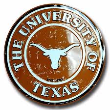 Texas Longhorn Home Decor Amazon Com Texas Longhorns 12 Inch Embossed Metal Nostalgia