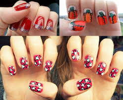 easy christmas nail art designs ideas 2014 step by step easy