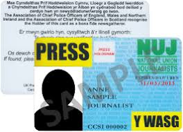 press and membership cards national union of journalists