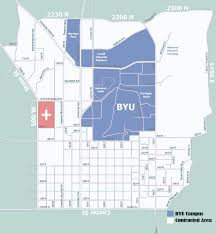 Map Of Provo Utah by Byu Off Campus Housing
