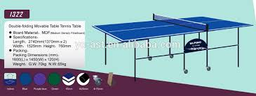 Table Tennis Dimensions 25mm Table Tennis Table 25mm Table Tennis Table Suppliers And