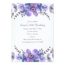 purple 40th birthday party invitations u0026 announcements zazzle canada