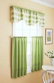 Kitchen Window Curtains by Green Country Cottage Plaid Kitchen Window Curtains Tier Valance