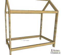 remodelaholic house frame twin bed building plan free plans build kid bed inspired this unique house frame twin