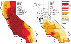 california drought map january 2016 california drought half of state now drought free u s survey