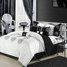 bedroom design with cool black white comforters for college with