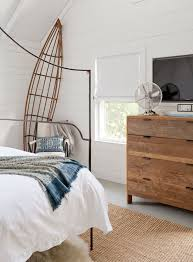 italian canopy bed reclaimed wood dresser cottage bedroom jenny wolf interiors