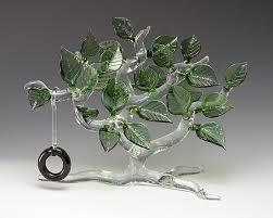 summertime tree by bandhu dunham glass sculpture