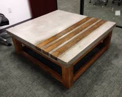 concrete wood table top concrete and wood coffee table architecture options