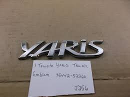 toyota yaris emblem toyota yaris rear trunk lid emblem 07 11 chrome badge 75442 52260