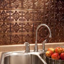 interior fascinating design metal backsplash with faux stone ideas