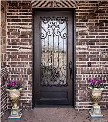 Front Door Metal Decor Iron Front Doors This Incredible Wrought Iron Front Door With