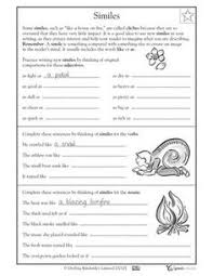 worksheet making metaphors language arts worksheets language