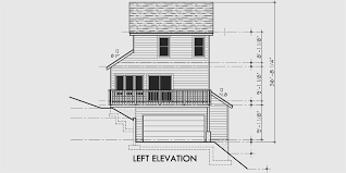 Narrow Lot House Plans With Rear Garage Sloping Lot House Plans House Plans With Side Garage Narrow Lot