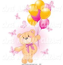 teddy balloons vector clip of a girl teddy floating away with