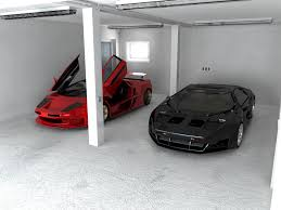 awesome car garages storages awesome red and black sport cars cool garage colors