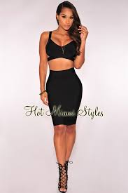 two dress set black bandage two set