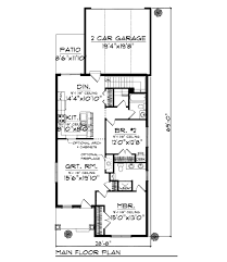 bungalow style house plan 2 beds 2 00 baths 1250 sq ft plan 70 963