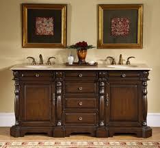 Bathroom Vanity 72 Inch 72 Inch Double Sink Bathroom Vanity With Travertine Countertop